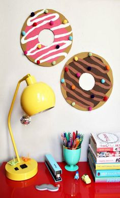 DIY Donut Bulletin Board with Sprinkles Push Pins