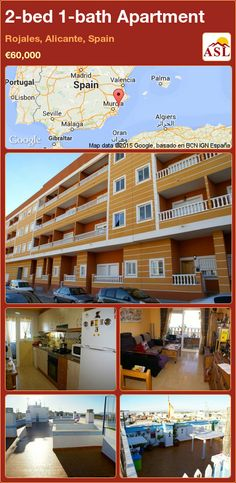2-bed 1-bath Apartment in Rojales, Alicante, Spain ►€60,000 #PropertyForSaleInSpain