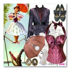 """ATOMIC JANE"" by atomic-jane ❤ liked on Polyvore featuring Gucci, Chantal Thomass, corset, disneyinspired, hauntedmansion, atomicjanesteam and purplecorset"