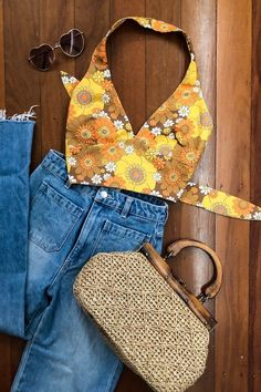 70s Outfits, Mode Outfits, Cute Casual Outfits, Vintage Outfits, Summer Outfits, Fashion Outfits, Cute Hippie Outfits, Short Outfits, Vintage Clothing
