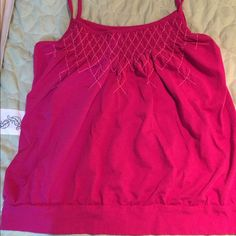 Large Old Navy Smock Style Tank This pink smock style tank from Old Navy is in excellent condition. I think I wore it once. Any questions, just ask. Don't hesitate to make an offer. Old Navy Tops Tank Tops