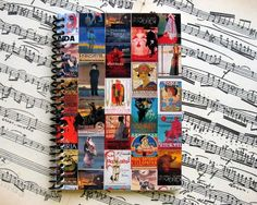 Opera  Spiral Notebook 4 x 6 by Ciaffi on Etsy, $12.50