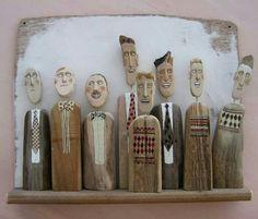 Lynn Muir wooden figures