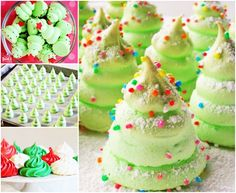 Wonderful DIY Christmas Tree Meringue Cookies   WonderfulDIY.com