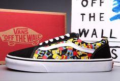 Vans Simpson Print Old Skool Skateboard Shoes Black