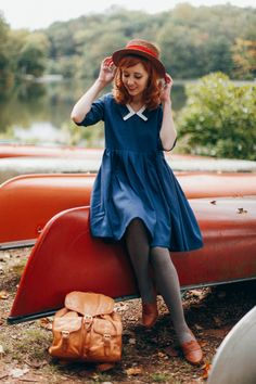 The Clothes Horse: Sail, Not Drift - Daily Fashion Outfits Look Fashion, Retro Fashion, Autumn Fashion, Vintage Fashion, Womens Fashion, Moda Vintage, Pretty Outfits, Cute Outfits, Retro Mode