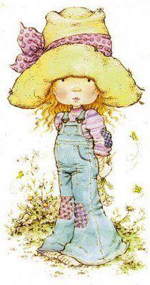 Sarah Kay - I remember having the bedding set. Sarah Key, Holly Hobbie, Sara Key Imagenes, Beatrix Potter, Decoupage, Cute Illustration, Vintage Cards, Illustrations, Cute Art