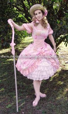 Coolest Lil Bo Peep Costume - Front view: Halloween is my absolute favorite holiday. Every year I try to wear something different, go to parties, decorate my apartment and make all sorts of 'scary'