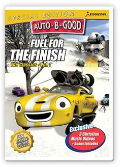 Auto-B-Good: Fuel for the Finish Special Edition // Join the cars as they fill up their tanks with life-changing lessons on thankfulness, perseverance and confidence! With 3 brand-new music videos wrapping up each story and a bonus episode on generosity, children will gain the fuel they need for life!