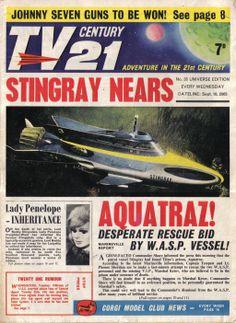 TV Century 21 issue number 35 Classic Sci Fi, Classic Comics, Pulp Fiction, Science Fiction, 1960s Britain, Joe 90, Thunderbirds Are Go, Sci Fi Tv, Fun Comics