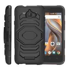 CoolPad Catalyst Case ARMOR RELOADED, Heavy Duty Kickstand Holster Clip - Black