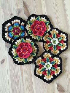 Transcendent Crochet a Solid Granny Square Ideas. Inconceivable Crochet a Solid Granny Square Ideas. Motif Mandala Crochet, Crochet Motifs, Crochet Afghans, Crochet Squares, Crochet Blanket Patterns, Crochet Stitches, Knitting Patterns, Granny Squares, Crochet Waffle Stitch