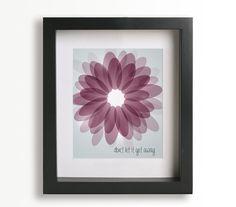 $20 Beautiful Day / U2 - Music Lyric Art Print - home decor, wall decor, unique art, flower, springtime, gift idea. $19.95, via Etsy.