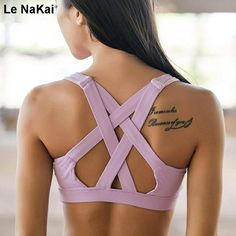 Cheap pad yoga, Buy Quality yoga bra directly from China compression sports bra Suppliers: AIJI Sexy Compression Sports Bra Top Women Cross Fitness Yoga Bra Seamless Padded Yoga Top Running Underwear Sport Brassiere Workout Attire, Workout Wear, Workout Tops, High Support Sports Bra, Women's Sports Bras, Sport Fashion, Fitness Fashion, Yoga Sport, Modelos Fitness
