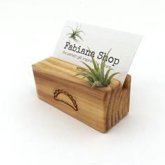 Business card holder with company logo or name.