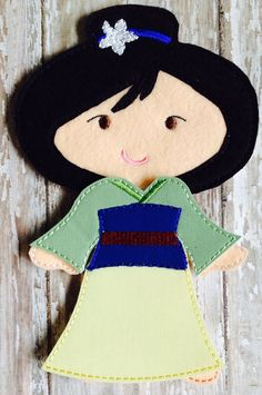 Mulan Felt Doll Outfit  by NettiesNeedlesToo on Etsy, $8.00