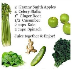 Who's up for some Mean Green Juice? Here goes!  Let's cheers to healthy life!