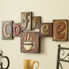 Creative of coffee kitchen decor 1000 ideas about coffee theme Coffee Theme Kitchen, Bistro Kitchen, Kitchen Dining, Tree Collage, Kitchen Decor Themes, Home Decor, Kitchen Ideas, Decorating Kitchen, Coffee Signs