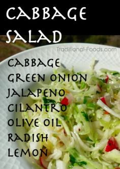 Cabbage Salad @ Traditional-Foods.com