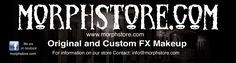Morphstore.com is an on-line retail store specializing in carrying special FX foam latex masks, adhesive, removers, props, contact lenses, teeth, clown coffee, hot sauces, tattoo numbing products, stickers and more. Our foam latex masks range from: Zombies, Wolves, Skulls and Witches, to an variety of Vampires, Animals, Fantasy Characters and custom creations.