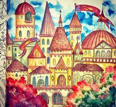 From: Romantic Country - A Fantasy Colouring Book by Eriy / Freshly Baked Bread #ロマンチックカントリー #美しい城が佇む国 / Used: Watercolour & #Colouring pencils #colouringforadults #colouringforgrownups #colouringbooks #colouringpencils #ColouringforMindfulness #塗り絵 #おとなの塗り絵 #コロリアージュ #著色 #填色 #塗鴉 #RomanticCountry