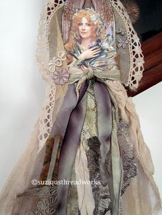 Suziqu's Threadworks:  Fabric and Paper Dolls