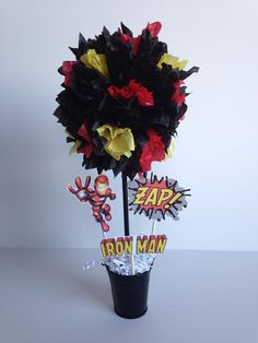 Iron Man Super Hero birthday party decoration by AlishaKayDesigns, $12.00