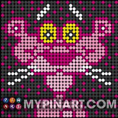 Pink Panther - $50 Pushpin Art design. Designed with thousands of plastic painted pushpins. Click here to buy your own custom design today. http://mypinart.com/pages/ct/cartoons/pinkpanther.html#