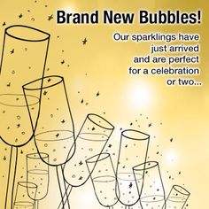 Our #bubbles are back in stock. #sparkling #wine
