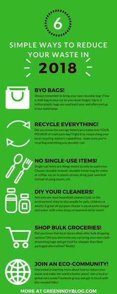 6 simple ways to reduce your waste in 2018 if your resolution is to go zero waste this year!