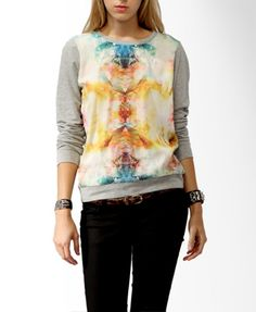 Relaxed Abstract Print Top