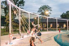 Salute playground by AFA « Landscape Architecture Platform | Landezine Kids Play Equipment, Park Equipment, Park Landscape, Landscape Architecture, Abc For Kids, Playground Design, Museum Of Contemporary Art, Kids Playing, Dolores Park