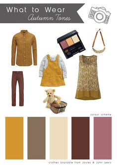What to wear inspiration for an Autumn photography session. Autumn Photography, John Lewis, Color Schemes, What To Wear, Inspiration, Image, Fashion, Colors, Pictures
