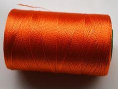 Orange Silk Thread SpoolArt Silk by CraftyJaipur on Etsy