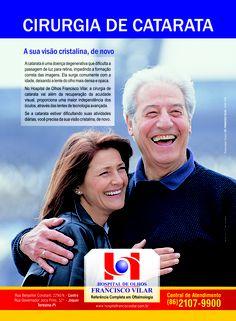 Anúncio de 1 página de revista para o Hospital de Olhos Francisco Vilar