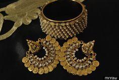 fancy earrings and kada