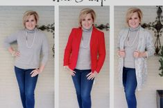 A cashmere turtleneck sweater is a classic clothing item for fall and winter. Here are three simple ways to style the sweater by only changing one item. Turtleneck Style, Grey Turtleneck, Cashmere Turtleneck, Cashmere Sweaters, Fashion Over 40, 50 Fashion, Trendy Fashion, Fashion Women, Fashion Tips