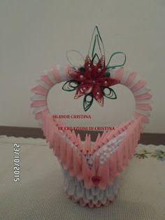 Le creazioni di Cristina: piccoli cestini origami 3d