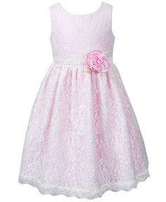 Sweet Heart Rose Girls Dress, Little Girls Lace Dress - Dresses - Little Girl Dresses - Macy's