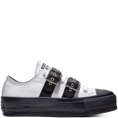 32a3b766528c Chuck Taylor All Star Lift Buckle Low Top White Black White Jack Purcell