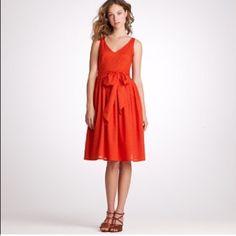 🌷HOST PICK🌷 J Crew V Neck 🌷🌷HOST PICK🌷🌷 J Crew V Neck Dress. In a Rich Orange/Red. J. Crew Dresses