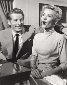 """Vera-Ellen didn't actually sing any of the songs. Actors Vera-Ellen and Danny Kaye in a scene from the movie 'White Christmas'. USA, 1954. When the character Judy Haynes sings, the parts were all recorded by costar Rosemary Clooney or singer Trudy Stevens. The only time Vera's real singing voice is heard is when they disembark the train in Vermont and the quartet sing the opening lines of """"Snow.""""21 Things You Didn't Know About """"White Christmas"""" - GoodHousekeeping.com"""