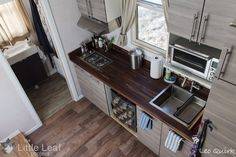 The Little Leaf tiny home kitchen