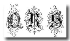 Old English Style Letters - Image 6