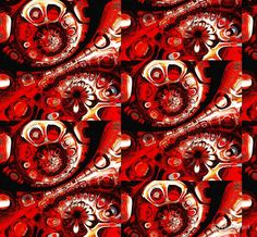 Red and black swirls 2