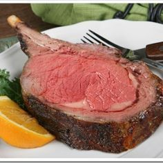 Prime Rib Everytime (The Best Ever) Best Restaurant-Style Prime Rib Roast Ever!Best Restaurant-Style Prime Rib Roast Ever! Rib Recipes, Roast Recipes, Dinner Recipes, Cooking Recipes, Steak Recipes, Game Recipes, Recipies, Cooking Bacon, Cooking Wine