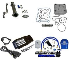 6.0L Ford Powerstroke EGR Delete, Oil Cooler, Coolant Filter,SCT X4 Tuner Kit