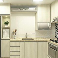 """12k Likes, 110 Comments - •  Arquitetura, Decor & Mais (@decoremais) on Instagram: """"Pra finalizar o domingão essa lindezãmm de cozinha, pequena, mas cheia de charme!! ☺️ Detalhe para…"""""""