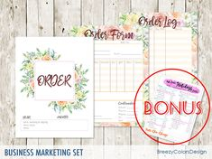 sales order book template