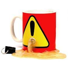Mug with a plug. Brilliant! Take the plug with you so no one can use your mug!